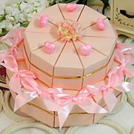 rosa Herzen Kuchen zugunsten Box (Satz von 20)