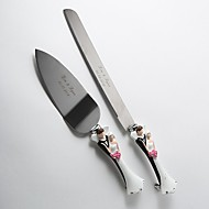 Serving Sets Wedding Cake Knife Personalized Bride & Groom Handle  Cake Serving Set