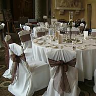 """decoração do casamento 7,8 """"bela cadeira de organza fita faixa - conjunto de 6 (mais cores)"""