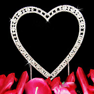 Cake Toppers Vintage Elegance Single Rhinestone Heart  Cake Topper