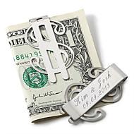 geschenk groomsman gepersonaliseerde geld clip - dollarteken