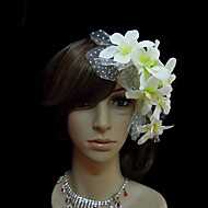 White Lily Wedding Bridal Headpiece