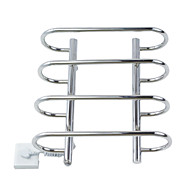 40W Stainless Steel Wall Mount Circular Tube Towel Drying Rack