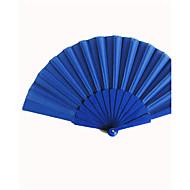 kongeblå silke hånd fans (sett av 6)