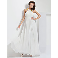 TS Couture Prom / Formal Evening / Military Ball Dress - White Plus Sizes / Petite A-line Jewel Floor-length Chiffon