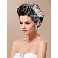 Wedding Veil One-tier Blusher Veils / Birdcage Veils Cut Edge Tulle
