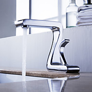 Sprinkle® Sink Faucets  ,  Art Deco / Retro  with  Chrome Single Handle One Hole  ,  Feature  for Centerset
