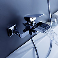 Hedendaagse Bad en douche Waterherfst with  Keramische ventiel Twee Gaten Single Handle twee gaten for  Chroom , Badkraan