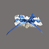 nydelig organza / sateng med rhinestone bryllup strømpebånd