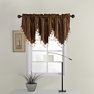 Embossed Brown Ascot Valance