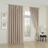 (One Panel)Traditional Floral Embossed Blackout Curtain