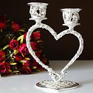 décoration de mariage coeur en argent plaqué bougeoir