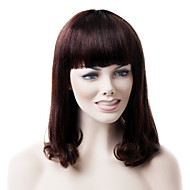 Mono Top High Quality Human Hair Medium Brown Wave Hair Wig