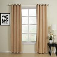um par cortinas de poupança de energia khaki clássico sólida cortinas