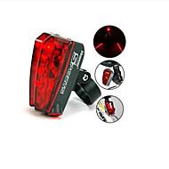 Kerékpár világítás Kerékpár hátsó lámpa LED Laser Kerékpározás AAA Lumen Akkumulátor Kerékpározás