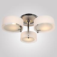 플러쉬 마운트 ,  컴템포러리 / 모던 크롬 특색 for 미니 스타일 금속 거실 침실 학습 방 / 사무실