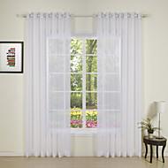 Twee panelen Window Behandeling Modern , Effen Slaapkamer Polyester Materiaal Vitrages Shades Huisdecoratie For Venster