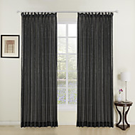 Two Panels Fashion Girl Black Shining Sheer Curtains Drapes