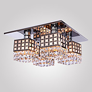SL® Chandelier Modern Crystal Stainless Living 4 Lights
