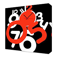 Modern Style Numeral Wall Clock in Canvas