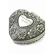 Personalized Elegant Heart-shaped Decorative Pattern Tin Alloy Women's Jewelry Box