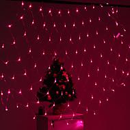 Festival Dekoration 120-LED 8-Modus Pink Light Net Lampen für Party Gartenzaun (220V)