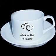 Personalized Coffee Cup Mug with Plate
