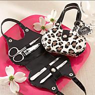 Leopard Fashion Design Set Manicure favor de la boda (4 Piezas)
