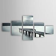 Handgemalte Landschaft Fünf Panele Leinwand Hang-Ölgemälde For Haus Dekoration