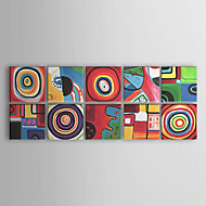 Oil Paintings Set of 10 Modern Abstract Color Cirles  Hand-painted Canvas Ready to Hang