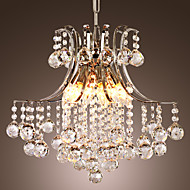 colgante lujo luz cristalina moderna de vida 6 luces