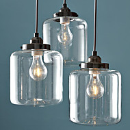Max 60W Pendant Light ,  Traditional/Classic / Vintage Electroplated Feature for Mini Style Metal Living Room / Dining Room
