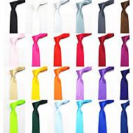 Men's Casual Solid Color Narrow Necktie
