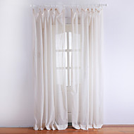 One Pair  Classic Ivory Solid Sheer Curtain