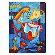 Handgeschilderde Abstract / Abstracte portretten Eén paneel Canvas Hang-geschilderd olieverfschilderij For Huisdecoratie