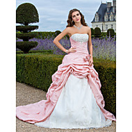 Prom / Formal Evening / Quinceanera / Sweet 16 Dress - Pearl Pink Plus Sizes / Petite Ball Gown / A-line / Princess Strapless Court Train