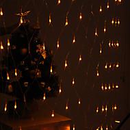 festival dekorace 120-led 8-mode žluté světlo čisté žárovky za plotem zahrady strany (220v)