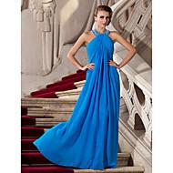 TS Couture® Prom / Formal Evening / Military Ball Dress - Elegant Plus Size / Petite Sheath / Column Halter Floor-length Chiffon with Beading
