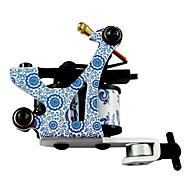 Blue and White Porcelain Tattoo Machine Gun Liner and Shader