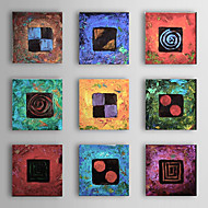 Hand-Painted AbstractModern / Traditional More than Five Panels Canvas Oil Painting For Home Decoration