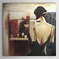 מצויר ביד אנשים פנל אחד בד ציור שמן צבוע-Hang For קישוט הבית
