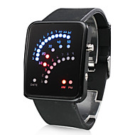 29 LED Silicone Band Wrist Watch(Balck)