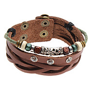 Men's/Unisex/Women's Fashion Bracelet Alloy/Leather