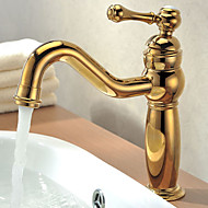 Country Vessel Single Handle One Hole in Ti-PVD Bathroom Sink Faucet