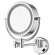 8.5-inch Wall Mount Cosmetic Mirror with Light Chrome Finish