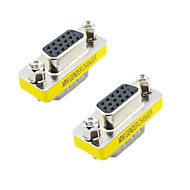 VGA 15 pin uros naaras adapteri (Hopea & Yellow, 2 KPL)
