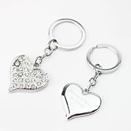 personlig hjärtadesign nyckelring med strass (sats om 4)