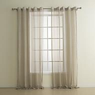 (Um painel) clássico jacquard cortina sheer