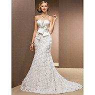 Lanting Bride® Trumpet / Mermaid Petite / Plus Sizes Wedding Dress - Classic & Timeless / Glamorous & Dramatic Chapel Train Strapless