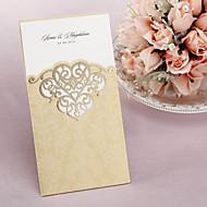 הזמנה אישית לחתונה עם דפוס חתוך בלייזר - סט של 50/20 (יותר צבעים)